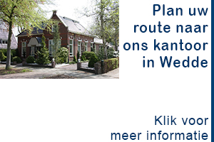 Route naar kantoor in Wedde